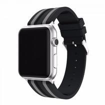 Pulseira 4LIFE de Silicone Duas Cores para Apple Watch - 38MM - Preto / Prata