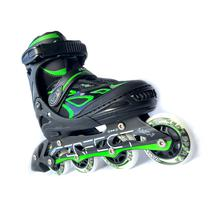 Patins-Rollers Perfect Sports SS-88A Tamanho M 35-38 Abec 7 - Preto/Verde