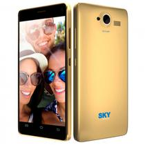 "Celular SKY Devices 5.0W 5.0"" Dual Dourado"