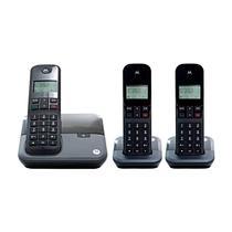 Telefone Motorola M3000-3 Bina / 3 Bases / Bivolt - Preto