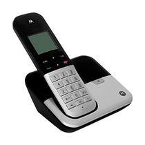 Telefone Motorola M6500 1 Base / Bivolt / Identificador de Chamadas - Preto e Prata