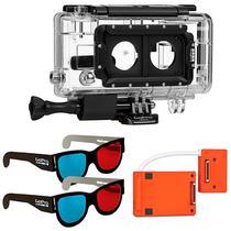 Caixa para Captura 3D para Cameras Hero 3+ Gopro AHD3D-301 - Transparente