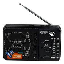 Radio Portatil Satellite AS-717 2.5 Watts RMS c/ USB/Slot Micro SD/ AM e FM - Preto