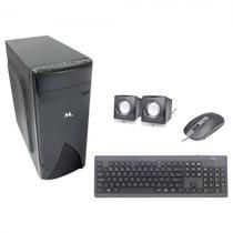 Gabinete Mtek D087B com Kit Teclado / Mouse / Speaker - Preto