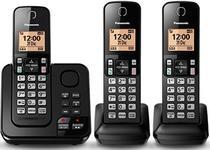 Telefone Sem Fio Panasonic KXTG-C363LAB - 3 Ramais - Secretaria Eletronica - Bina - Preto