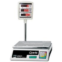 Balanca Digital Comercial Quanta QTBD275 Ate 40KG/Display LED - Branco/Preto