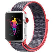 Pulseira 4LIFE de Nylon Loop para Apple Watch 38MM, Velcro - Rosa e Azul Escuro