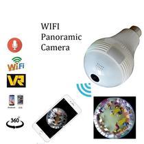 Panoramica de 360 Graus Da Camera de 1.3MP 2.0MP Wifi Sem Fio Lampada Olho de Peixe Camera de Segura