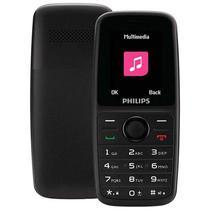 """Celular Philips E108 Dual Sim Tela 1.77"""" Radio FM - Preto"""